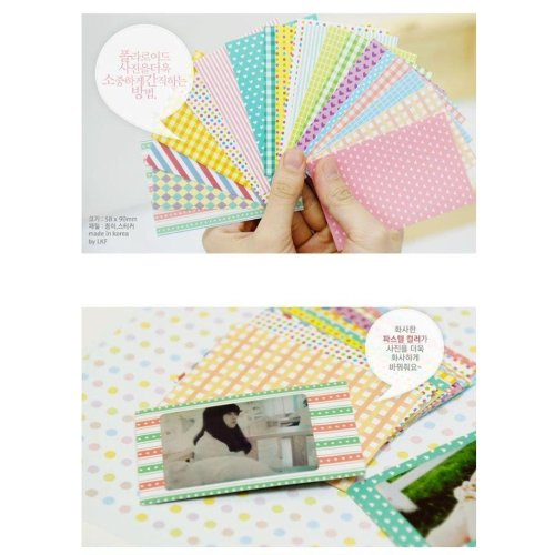 100PCS Pastel Color Instant Films Sticker for FujiFilm Instax Mini 8 7s 25 50s (Difference Between Fujifilm Mini 7s And 8)