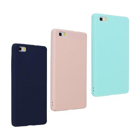Huawei P8 Lite 2015 Hülle Dünn Silikon, Asnlove 3 Pack Handy Schutzhülle für Huawei P8 Lite Hülle TPU Silikon Backcover Case