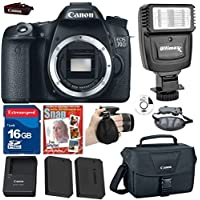 Canon EOS Rebel 70D DSLR +(No Lens) +Extra High Capacity battery +16g Commander High Speed Memory Card +Canon Professional Camera Bag +Deluxe Wrist Grip +Top Value Bundle - International Version Review Review Image