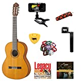 Yamaha CG122 Solid Top Classical Guitar, Matte Natural, with Legacy Accessory Bundle, Many Choices