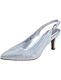 Women Pumps Slingback Low Heel Dress Shoes for Women