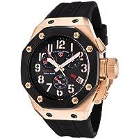 Swiss Legend Men's 10541-RG-01-BB Trimix Diver Collection Chronograph Black Rubber Watch