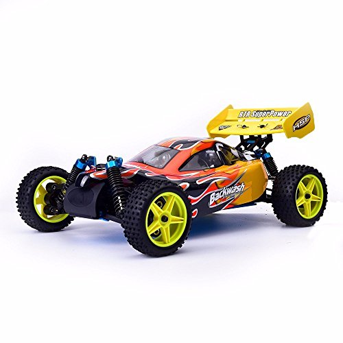 HSP Rc Car 1/10 Off Road Buggy 94166 Backwash Nitro Gas Power Two Speed 4wd High Speed Remote Control (2 Speed Nitro Rc Car)