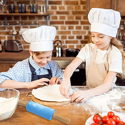 Koogel 9 Inch Mini Rolling Pin, 2 Pcs Kids Rolling Pin Small Rolling Pin Handle Rolling Pin for Home Kitchen Children Cake