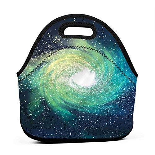 Convenient Lunch Box Tote Bag Galaxy,Outer Space Theme Stardust,tinkerbell lunch bag for - Travel Bags Tinkerbell