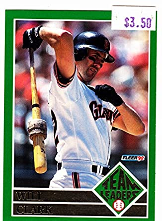 13eb877805 1992 FLEER WILL CLARK TEAM LEADERS at Amazon's Sports Collectibles Store