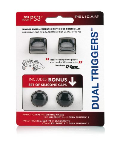 PDP Pelican PS3 Dual Triggers with Bonus Silicone Caps (Ps3 Controller Grip compare prices)