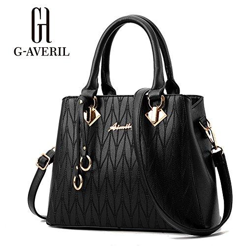 (G-AVERIL)Borsa a Mano da Donna in PU Pelle Designer Top-Handle Borsa Per Le Donne