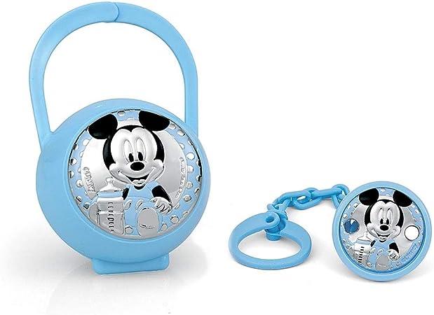 Disney Baby Clip para chupete con cadena de cuentas y caja Detalles en plata Winnie the Pooh