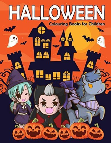 Happy Halloween Witch Coloring Pages (Halloween Colouring Books for Children: A Fun and Easy Happy Halloween Colouring Pages of Witches, Vampires, Ghost, Skulls, Pumpkin and More! (coloring book for)