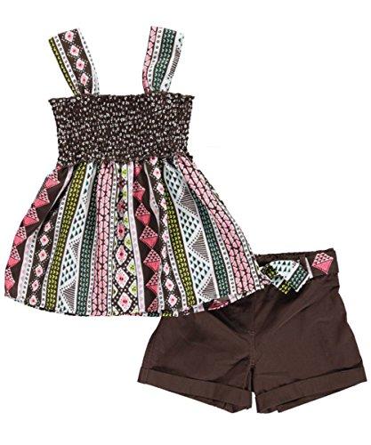 """Pogo Club Big Girls' """"Gianna"""" 2-Piece Outfit - dark brown, 14 - 16"""