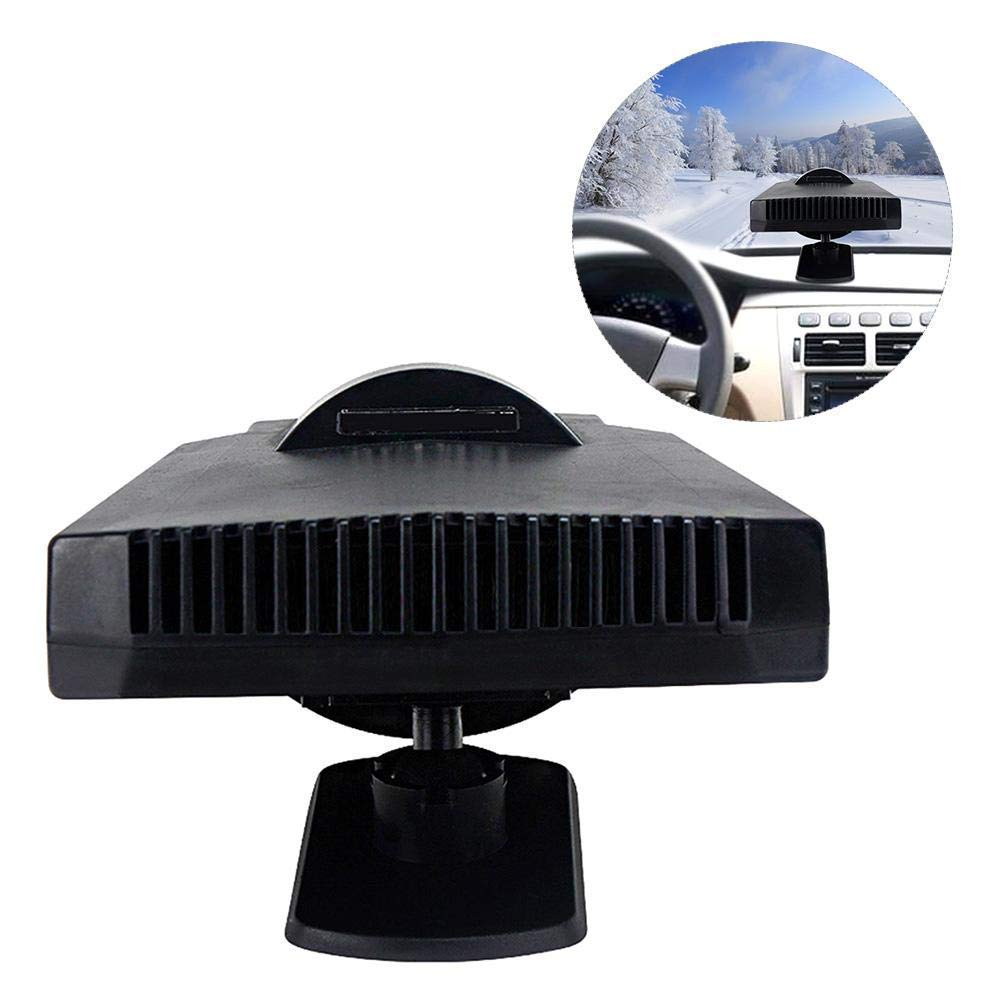 Portable Car 12V-200W High Power Car Ceramic Heater Cooling Fan, Fast Heating Quickly Defrosts Defogger Ceramic Car Vehicle Auto Automobile Cooling Fan Defroster Demister Witout Noise