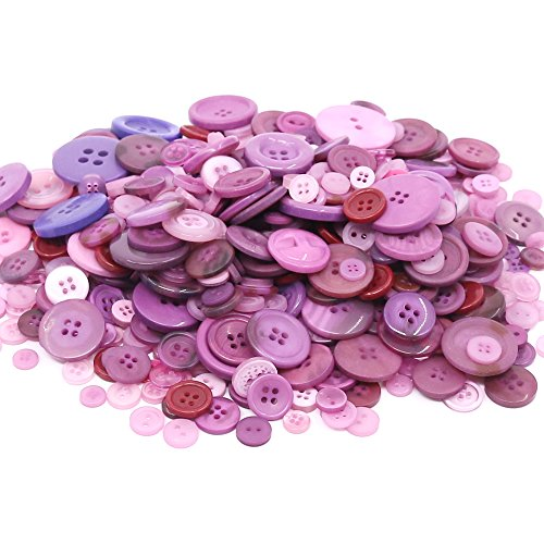 Sewing DIY Crafts Pink Decoration Rustark 650Pcs Resin Buttons Favorite Findings Basic Buttons 2 and 4 Holes Craft Buttons for Arts Sizes Range from 0.28 to 1.18 Inch