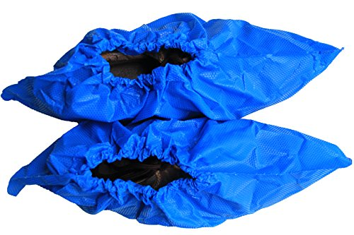 Polyethylene Shoe Covers - ForClean Bigger Size Disposable Protective Polyethylene Boot & Shoe Covers, Waterproof,Thicker and Embossed Material,More Durable,40pieces/pack