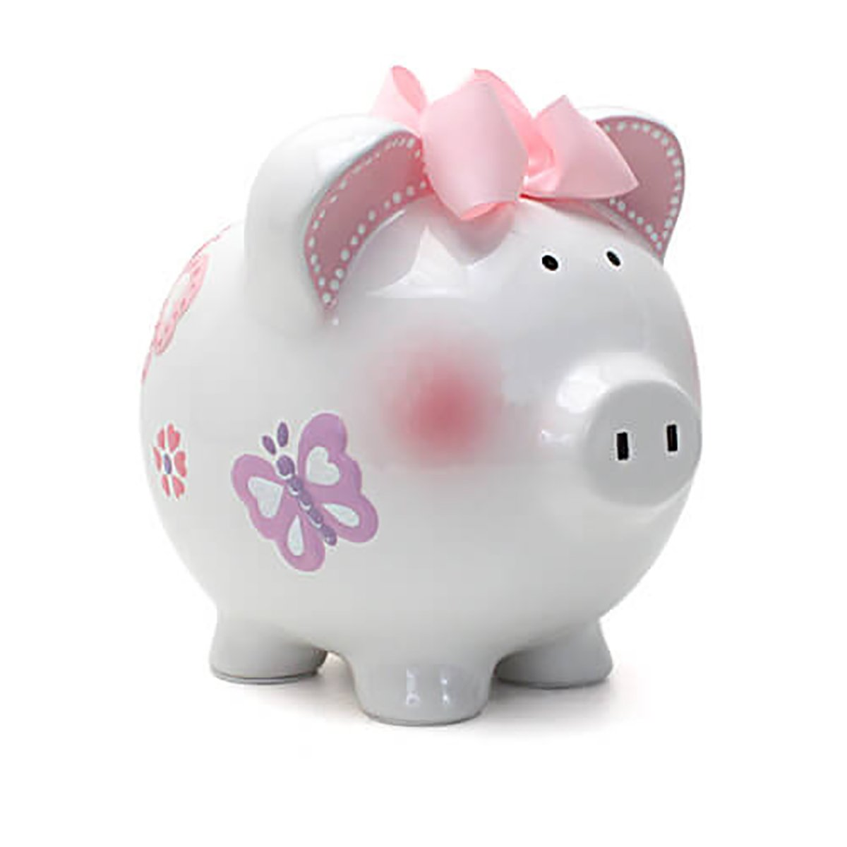 Mud pie ballerina piggy bank mud pie - Child To Cherish Piggy Bank Large Butterfly