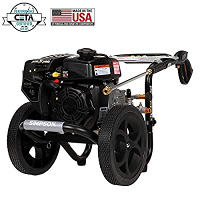 Simpson Kohler RH265 OHV, AAA Triplex Pump MS60763-S MegaShot 3100 PSI 2.4 GPM Gas Pressure Washer, Kohl