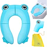 Safcare Folding Large Non-Slip Potty Training Seat for Boys and Girls, Travel Portable Reusable Toddlers Toilet Seat…