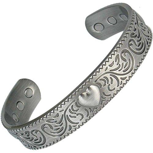 MPS® Bracelet jonc, Bracelet magnétique en étain, Avec six aimants--#N-BAC-75-MJUK