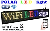 WiFi LED Sign, 7 Color Sign 40' x 8' with high Resolution P10 and New SMD Technology. Perfect Solution for Advertising