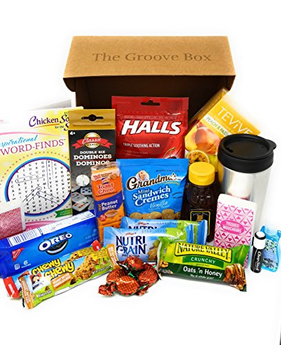 The Groovy Get Well Care Package - Send Care and Concern - Feel Better Soon Gift Basket (Care Basket)