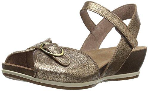 Gold Nappa Footwear - Dansko Women's Vanna Sandal, Gold Nappa, 36 M EU (5.5-6 US)