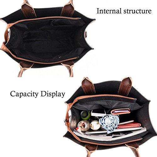 capacité Bag Casual à Atmosphere Portable de Sac sauvage rue épaule Rétro Black main Sacs simple GAOLIXIA à bandoulière Sac grande xw1YqUff
