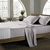 #9: 4 Piece Bed Sheet Set (Twin,Light Gray) - 120 GSM Hotel Luxury Brushed Microfiber - 1800 Series Platinum Collection Bedding Set - Deep Pocket,Wrinkle,Fade,Stain Resistant & Hypoallergenic