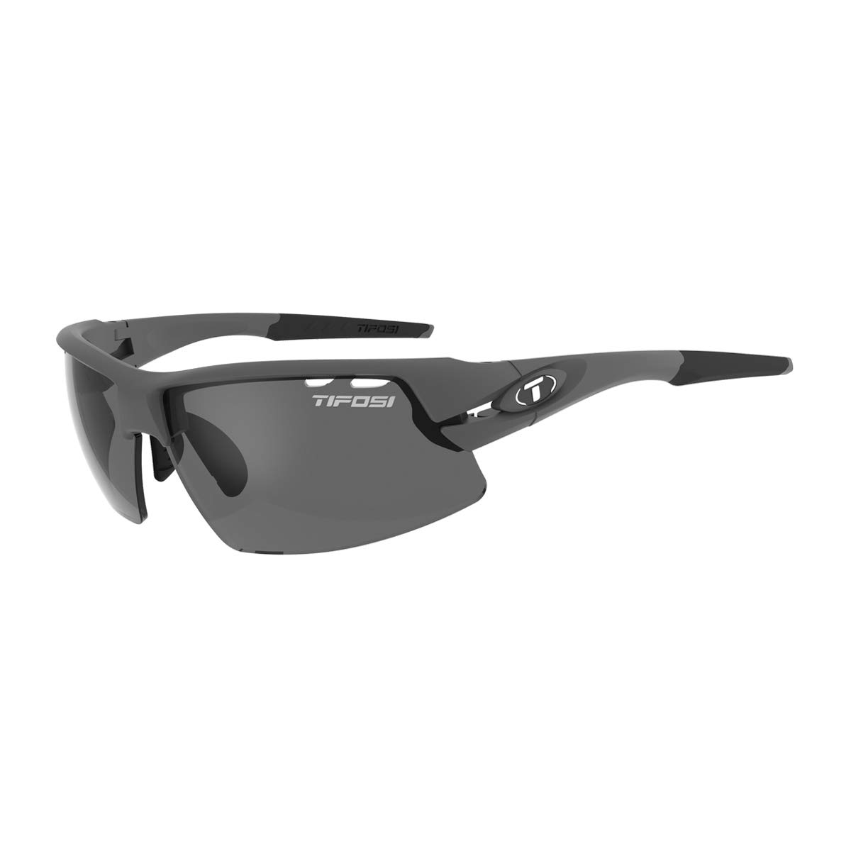 Tifosi Crit Polarized Fototec Matte Gunmetal - Smoke Polarized Fototec by Tifosi