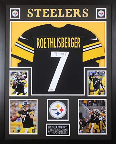 Ben Roethlisberger Autographed Signed Autograph & Framed Black Steelers Jersey Fanatics Coa