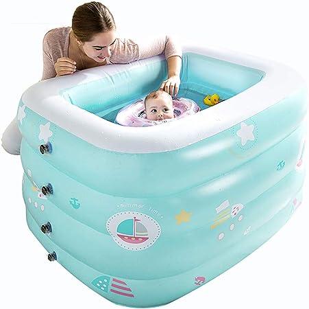 ZDYG Piscina, bañera Inflable de múltiples Capas para bebés, Piscina al Aire Libre en el jardín Piscina para niños, para Todos los niños, 120x95x72 cm: Amazon.es: Hogar