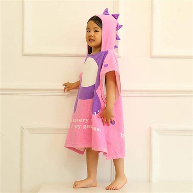 Amazon.com: Shower Cloth Bath Linen Cartoon Dinosaur Children Bathrobe Cloak Bath Towel Baby Swimwear Hooded Bathrobe (Color : Lavender, Size : M): Home & ...