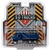 2017 International Workstar Construction Dump Truck Blue S.D. Trucks Series 3 1/64 Diecast Model by Greenlight 45030 A