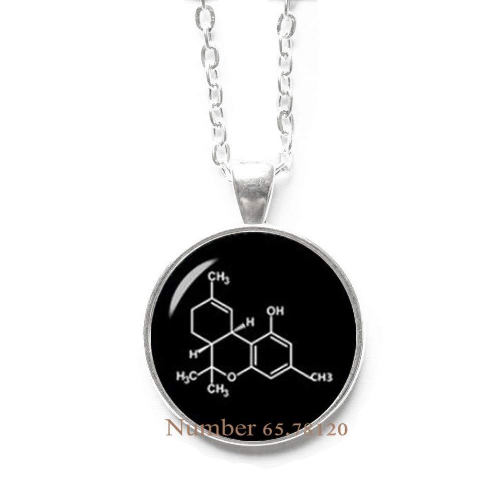 Yijianxhzao Marijuana formul Necklace,Marijuana Jewelry,Glass Jewelry,Cannabis Necklace,Medical Marijuana Jewelry,BV254