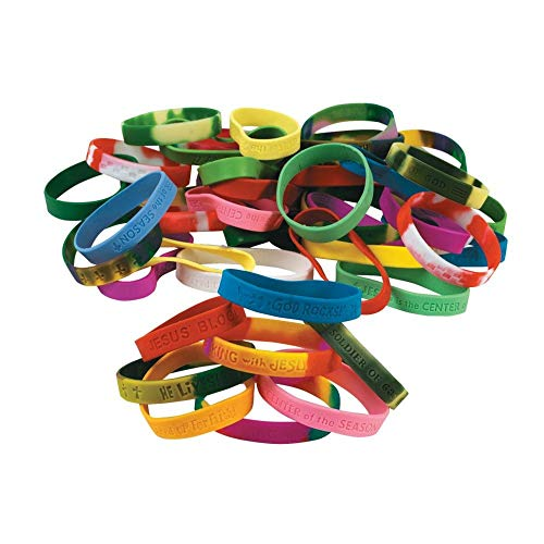 Fun Express Religious Sayings Bracelet Mega Assortment (100 Piece)]()
