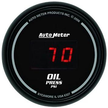 Sports Car Meter 6327 Comp Digital 2 1 16 0 100 Digital Psi Oil