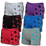 Microfibre boxer shorts for boys, cool, athletic, football, kids, pack of 6