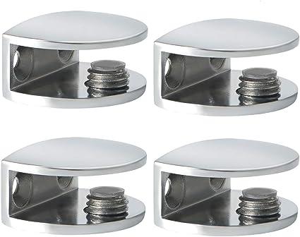 vis de fixation pour étagères en verre chrome poli Support d/'étagère Pince 24 mm
