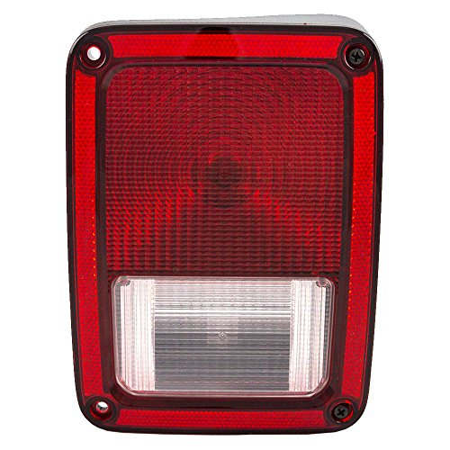 Passengers Taillight Tail Lamp Replacement for 07-17 Jeep Wrangler 55077890AH CH2801177 AutoAndArt (Jeep Tail Lens Light)
