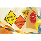 "Construction Party Supplies -7"" Traffic Signs"