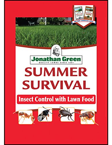 Jonathan Green 12015 Summer Survival Insect Control Plus Lawn Fertilizer, 13-0-3, 15M (Best Lawn Fertilizer For Summer)