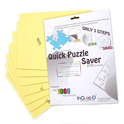(Ingooood-Puzzle saver- Sheet Peel - Preserve and Hang Your Jigsaw Masterpiece Without Hassle - Easily Frame Most Boards With a Strong Adhesive the Best Way to Preserve Your Finished Puzzle(Sheet Peel))