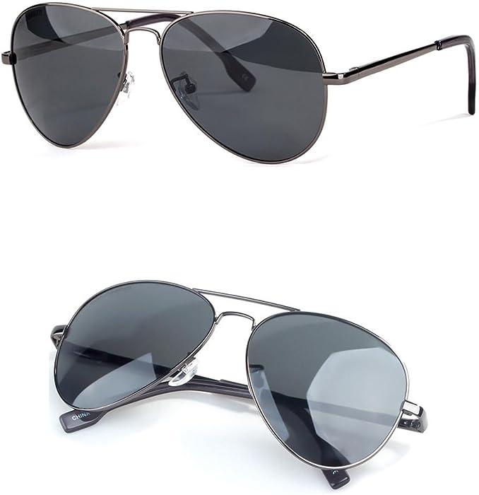 4becc0eec2 WANGMIN® Gafas De Sol De Moda Piloto De Estilo Hombres De Las Mujeres Vintage  Lente Ovalada Clásico De Color Marrón Gafas De Adultos Gafas