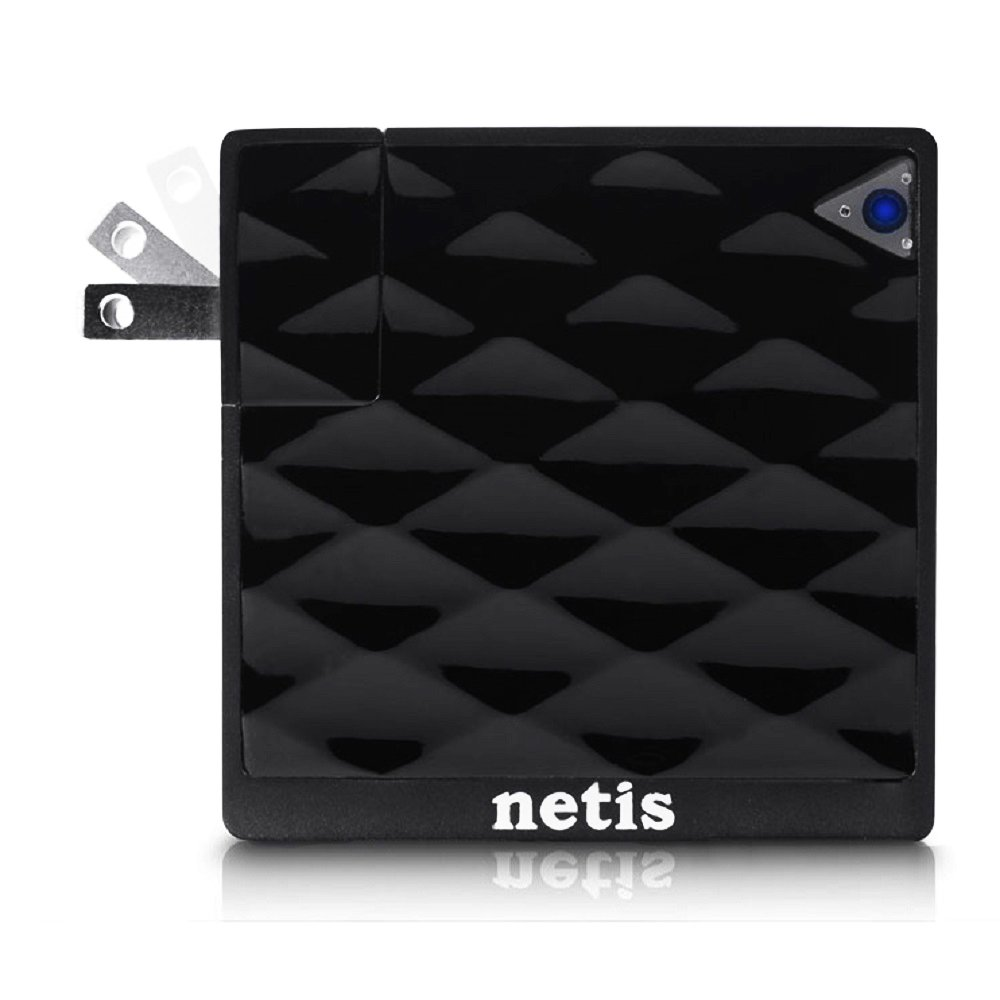 Netis WF2416 Wireless N150 Pocket Size Traveler AP Router / Repeater Two in One, with Foldable Wall Mount Power Plug by Netis (Image #2)
