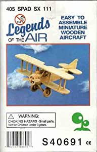 Legends of the Air 405 SPAD SX 111 Easy to assemble Miniature Wooden Aircraft (Hobby Airplane)