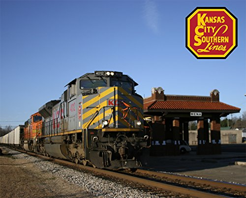 "Used, Kansas City Southern Mena Depot 8"" x 10"" Metal Sign for sale  Delivered anywhere in USA"