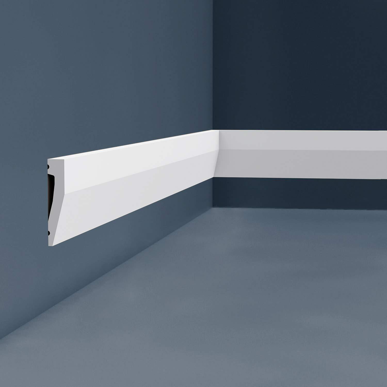 Z/ócalo Orac Decor SX159 AXXENT Z/ócalo Multifuncional Elemento decorativo para pared dise/ño moderno blanco 2 m