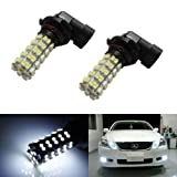 iJDMTOY 68-SMD H10 9145 LED Fog Light Replacement Bulbs, Xenon White