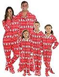 SleepytimePjs Family Matching Red Snowflake Onesie PJs Footed Pajamas Kid's Red Snowflake – (STM17-2010-K-6)
