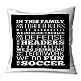 ChalkTalkSPORTS Soccer Decorative Throw Pillow | We Do Soccer | Black | Small
