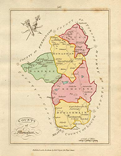 Amazon Com County Of Monaghan Ulster Antique Copperplate Map By